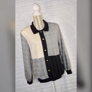 {vintage 80s alfred dunner} Multipaneled Sweater